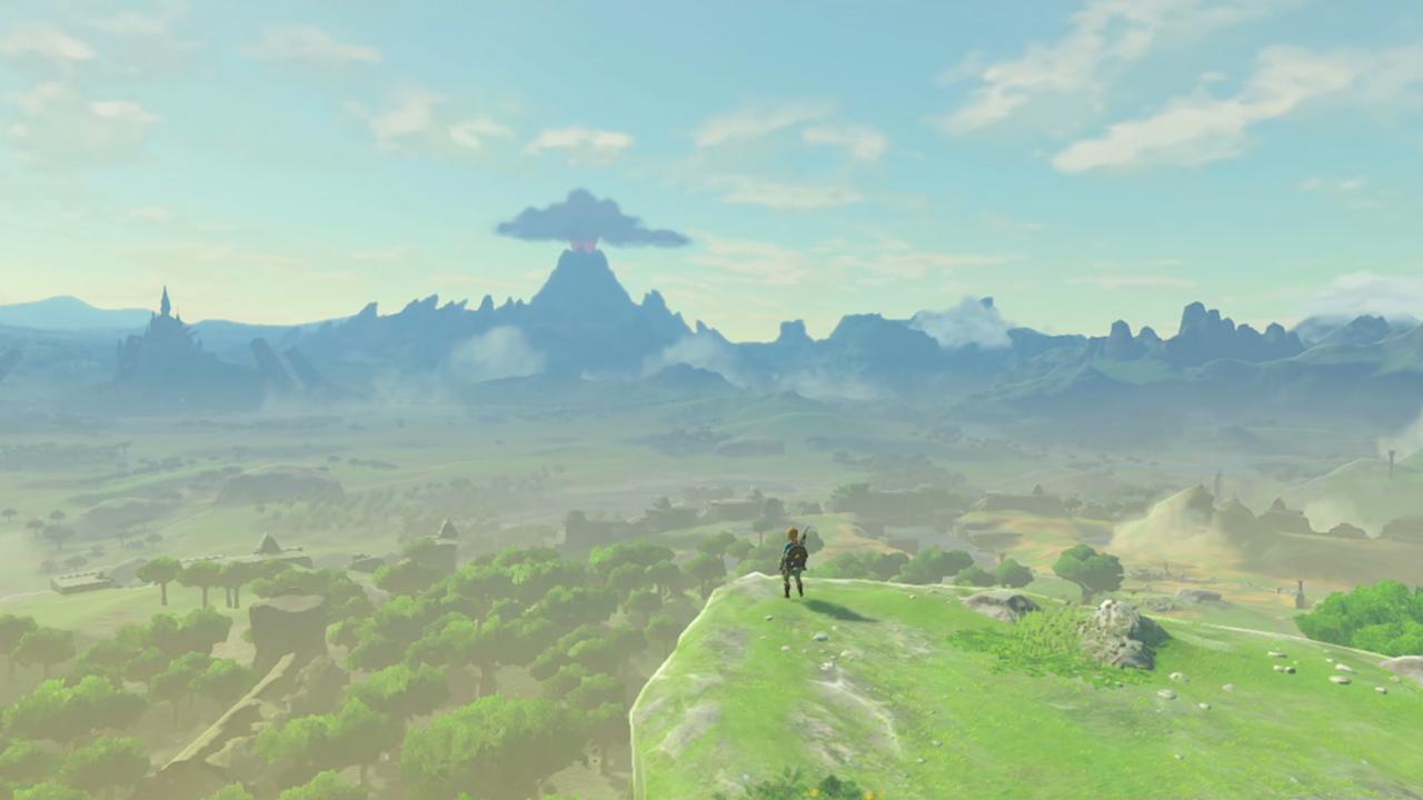 Hvert et bjerg, hver en klippe, hver en slette, hver en hule, hvert et tempel, en sø, en landsby, en skov – ja selv en sten eller et træ kan gemme på eventyret. (Foto: Zelda.com)